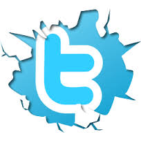 Twitter logo break-through