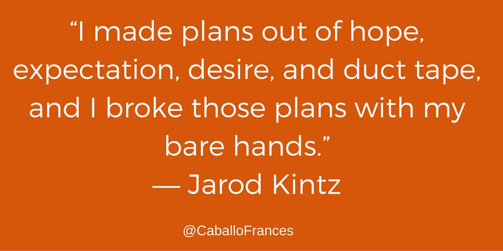 Quote by Jarod Kintz via Social Media Just for Writers - Frances Caballo