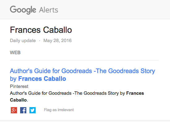 Google Alert re Pinterest