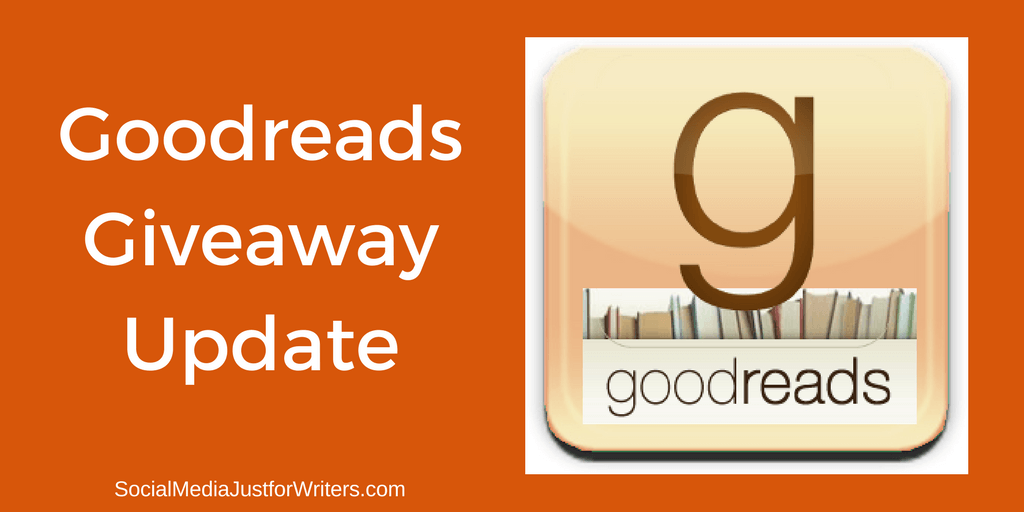 Goodreads Giveaway Update