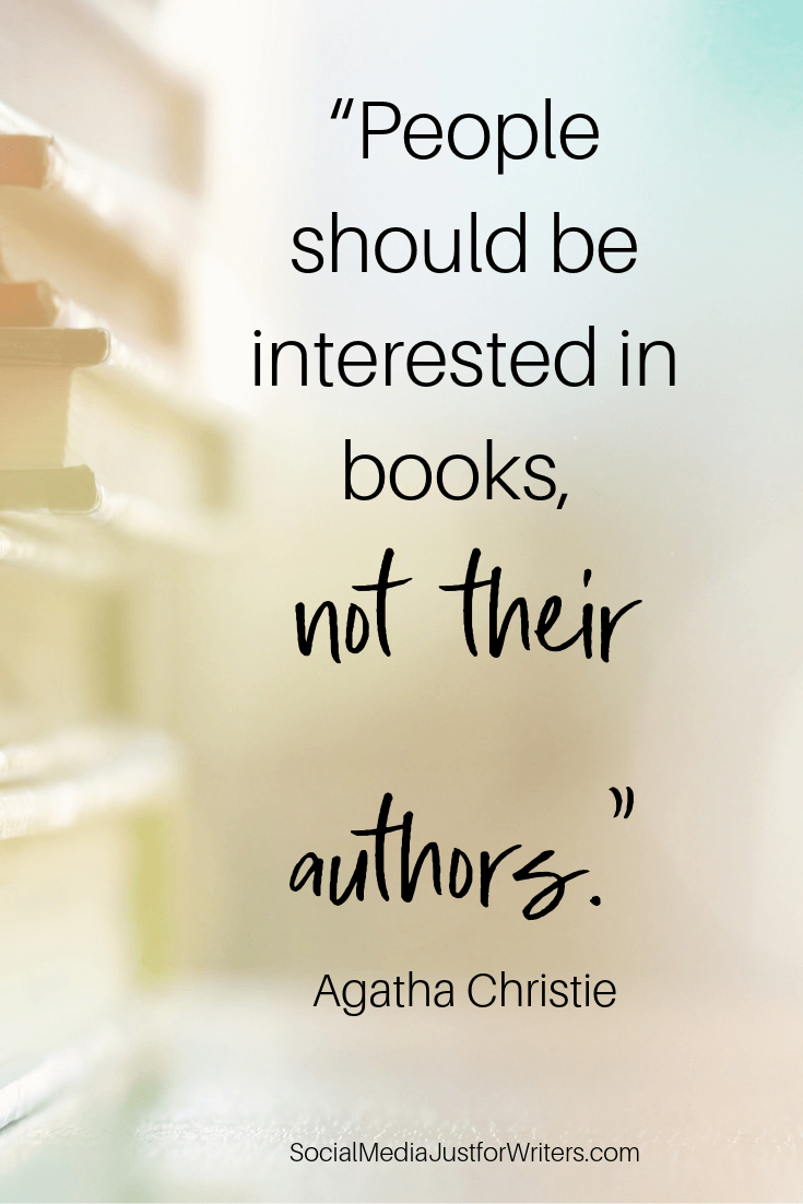 """People should be interested in books, Agatha Christie"